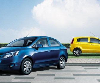 Sail Blue Sedan Yellow Hatchback Wallpaper[0]